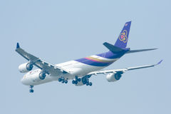 HS-TLC  Airbus A340-500 of Thaiairway Royalty Free Stock Photo