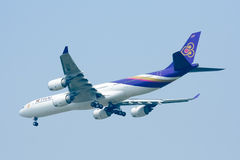 HS-TLC  Airbus A340-500 of Thaiairway Royalty Free Stock Image