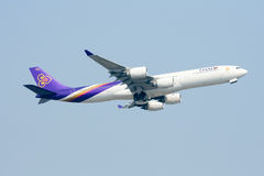 HS-TLC  Airbus A340-500 of Thaiairway. Stock Images