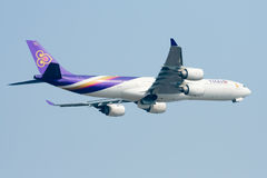 HS-TLC  Airbus A340-500 of Thaiairway. Royalty Free Stock Image