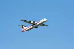 HS-TRA of ATR72-200 Thaiairway Stock Photo