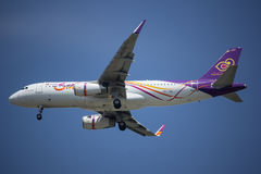 HS-TXG Airbus A320-200 of Thai smile airway. stock photos