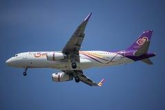 Hs-TXG Luchtbus A320-200 van Thaise glimlachluchtroute Stock Foto's