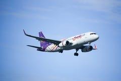 HS-TXM Airbus A320-200 da via aérea de Thaismile Imagens de Stock Royalty Free