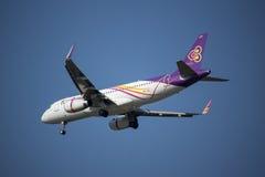 HS-TXU Airbus A320-200 da via aérea tailandesa do sorriso Fotografia de Stock