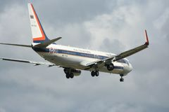 HS-TYS Boeing 737-800 dell'aeronautica tailandese reale Immagini Stock