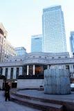 HSBC塔&金丝雀码头塔。 免版税库存照片