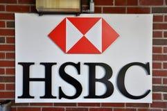 hsbc λογότυπο Στοκ Φωτογραφίες