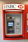 HSBC ATM machine. In HSBC bank in USA Royalty Free Stock Photo