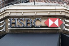 HSBC-Bank stock fotografie