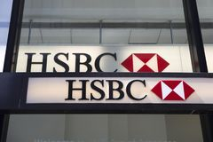 HSBC-Bank stock afbeelding