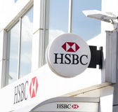HSBC Bank. Ankara - JUN 21: HSBC Bank branch on JUNE 21, 2014 in Ankara, Turkey. it is the world's one of the largest banking and financial services group. HSBC Royalty Free Stock Photos