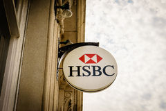HSBC Bank branch in London Royalty Free Stock Images