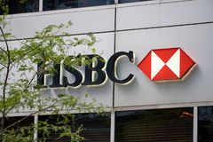 HSBC-bank in Montreal royalty-vrije stock foto