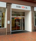 HSBC Bank Store Front. Reading, United Kingdom - June 22 2018: The store frontage of HSBC Bank in Broad St Stock Images