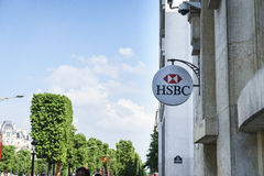 HSBC bankfilial i Paris, Frankrike Royaltyfri Fotografi