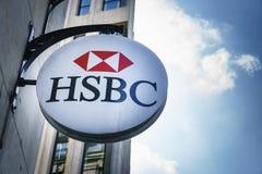 HSBC bankfilial i Paris, Frankrike Fotografering för Bildbyråer