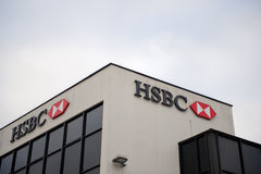 HSBC-Banktak in Liverpool Royalty-vrije Stock Fotografie