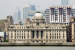 HSBC Building in The Bund in Shangai Stock Photo