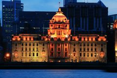 HSBC Building in The Bund in Shanghai Stock Photo