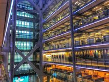 HSBC Building Hong Kong. Atrium of HSBC Hong stock photo