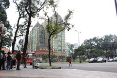 HSBC building in Viet Nam Stock Photography