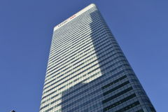 HSBC, das moderne Architektur-Skyline London errichtet Stockfotografie