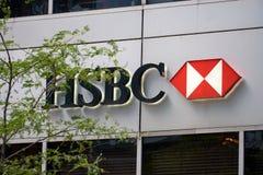 HSBC deponuje pieniądze w Montreal zdjęcie royalty free