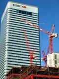 HSBC deposita las oficinas - Londres Reino Unido imágenes de archivo libres de regalías