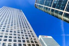 HSBC eleva-se em Canary Wharf Fotografia de Stock