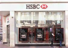 HSBC filial Arkivfoto