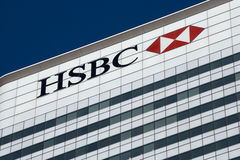 HSBC Londres Foto de Stock Royalty Free