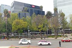 HSBC Mexico City headquarters in Zona Rosa stock photography