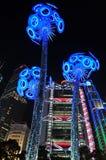 HSBC Neon light Stock Image
