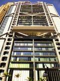 HSBC office buildings glass exterior. HSBC bank modern office buildings glass exterior against blue sky in hongkong china Stock Images