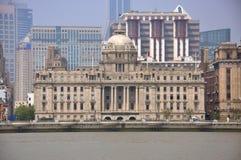 HSBC que constrói, a barreira, Shanghai, China imagens de stock