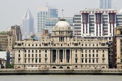 HSBC que constrói na barreira em Shangai foto de stock