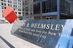 HSBC und der rote Würfel Stockbild