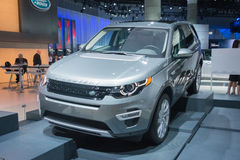 HSE van landrover discovery sport Luxeauto 2015 Stock Afbeelding