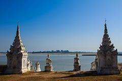 Hsinbyume或Myatheindan塔,在缅甸(Burmar)的Mingun 免版税图库摄影