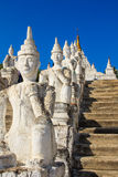 Hsinbyume或Myatheindan塔,在缅甸(Burmar)的Mingun 免版税库存图片