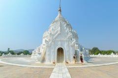 Hsinbyume or Myatheindan pagoda in Mingun Stock Image