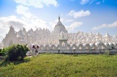 Hsinbyume (Myatheindan) paya temple, Mingun, Mandalay in Myanmar Stock Image