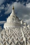 Hsinbyume Pagoda or Myatheindan Pagoda. Mingun. Sagaing region. Myanmar. The Hsinbyume Pagoda is a large pagoda on the northern side of Mingun, painted white and Royalty Free Stock Photo
