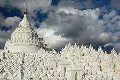 Hsinbyume Pagoda or Myatheindan Pagoda. Mingun. Sagaing region. Myanmar. The Hsinbyume Pagoda is a large pagoda on the northern side of Mingun, painted white and Stock Photography