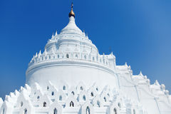 Hsinbyume pagoda, Mingun, Myanmar. The Hsinbyume Pagoda is a large pagoda on the northern side of Mingun in Sagaing Region, on the western bank of the Irrawaddy Royalty Free Stock Images