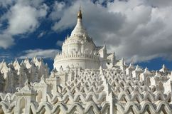 Hsinbyume Pagoda. Mingun. Sagaing region. Myanmar. The Hsinbyume Pagoda is a large pagoda on the northern side of Mingun, painted white and modeled on the Royalty Free Stock Images