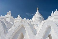 Hsinbyume Paya美丽的白色修道院在Mingun市,坛场 免版税库存照片