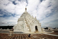 Hsinbyume Paya em Mingun; Myanmar Fotos de Stock Royalty Free