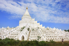 Hsinbyumepagode in Mingun, Mandalay, Myanmar Royalty-vrije Stock Fotografie